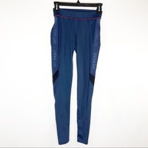 Ivy Park Womens XS Blue Activewear Leggings Mesh